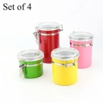 Canister Set Of 4 Steel Airtight-DT490