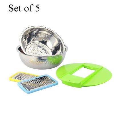 Set Of 5 Vegetable Grater With Stainless Steel Bowls-DT495
