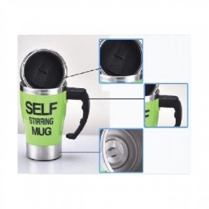 Self Stirring Mug For Lazy People Auto Mix Home Office Stainless Steel-DT497
