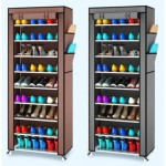 10 Tier Shoe Rack Dust Cover Cabinet-DT499
