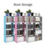 Diy book storage 5 tier with 8 column -DT501