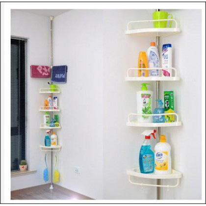 4 Tiers Organizer Rack And 2 Towels Hangers With Adjustable Length 3kg-DT519