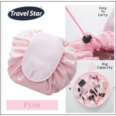 Portable Beauty Drawstring Travel Makeup Bag Travel Organizer Storage Jewellery-DT523