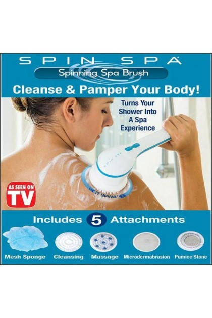 5 In 1 Cleaning Bath Spin SPA Massager Long-Handled Electric Shower Brush - DT542