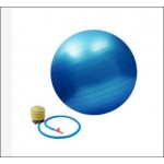 60cm Yoga and Fitness Ball Free Air Pump- Blue (1kg) - DT553