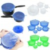 6pcs Stretchable Silicone Lids - DT597