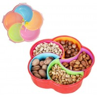 Big Capactiy Food Trays & Candy Container With Lid (5 Slots ) - DT610
