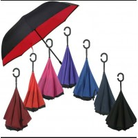 Premium Quality Inverted Reverse Double Layer Umbrella With C Hook -DT611