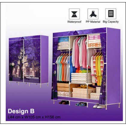 1381 XL Size Cartoon Themed Wardrobe With Spacious Storage And Steel Structure - DT613