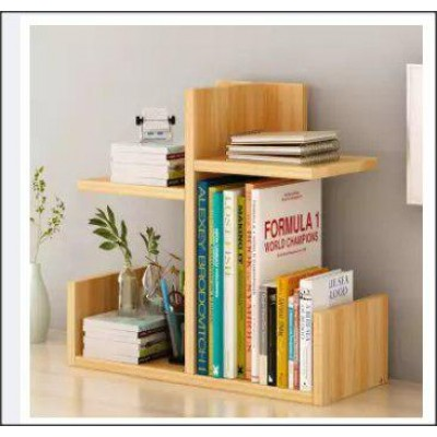 Sturdy Wooden Table Top Book Rack Book Shelf Table Organizer (2kg) - DT618