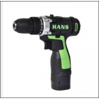 HANS Cordless Driller 16.8V With Light and Adjustable Speeds C/W 1 Rechargeable Lithium Battery DIY Tools Peralatan Gerudi DIY (1.5kg) - DT619