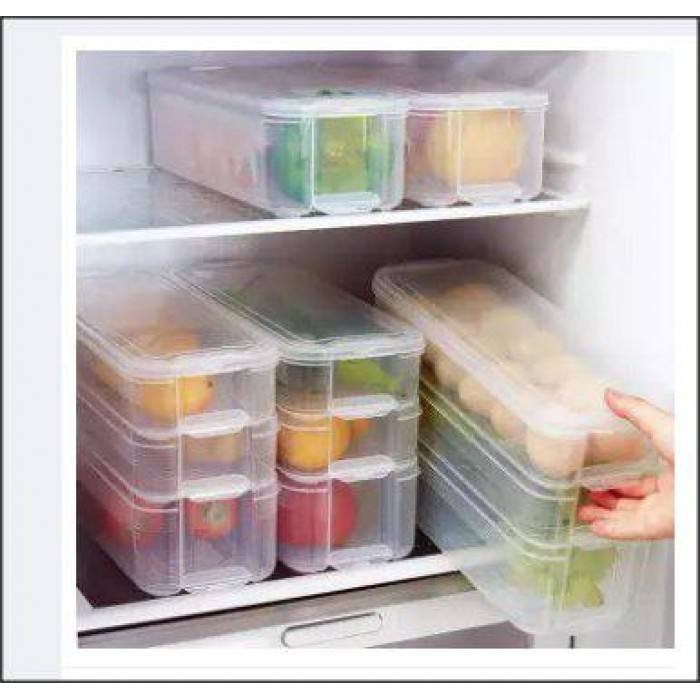 3 Layer Freezer Storage Box Stackable Plastic Storage Bins, Refrigerator  Storage Box, Food Storage Containers With ...
