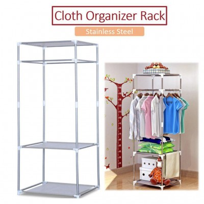 STAINLESS STEEL MULTIPURPOSE CLOTH ORGANIZER RACK (1.5kg) - DT654