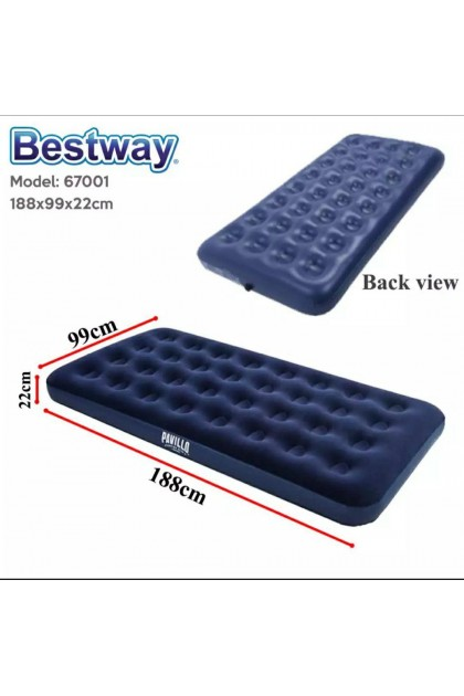 BESTWAY Portable Premium Series Inflatable Single Bed Air Bed Mattresses (3kg) - DT656