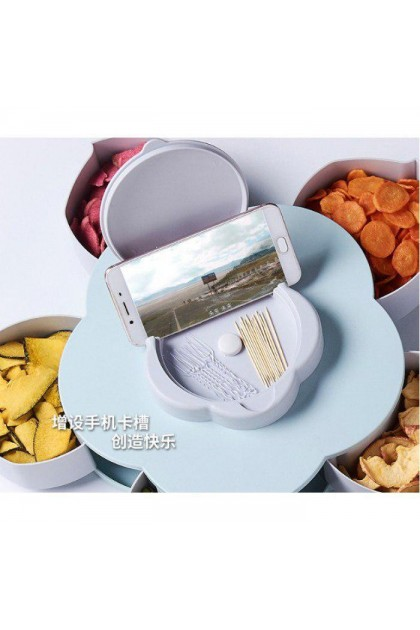 SNACK CANDIES BOX WITH HAND PHONE HOLDER/ Flower candy Box  (0.4kg) - DT628