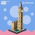 LOZ Mini Blocks Elizabeth Tower London Big Ben Clock Architecture Model Bigben DT984