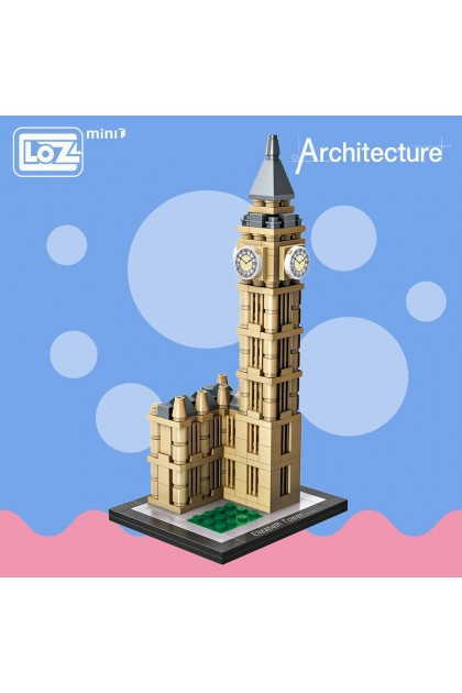 LOZ Mini Blocks Elizabeth Tower London Big Ben Clock Architecture Model Bigben DT984