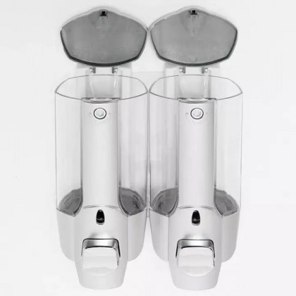 WALL MOUNTED SOAP DISPENSER SHAMPOO DISPENSER (2 PC) - DT685
