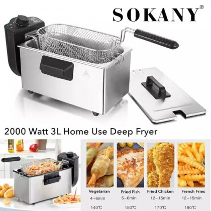 3 LITER HOME USE ELECTRIC DEEP FRYER (3KG) - DT687