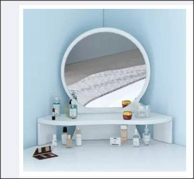 Corner Type Dressing Table with Mirror and Drawers-DT865