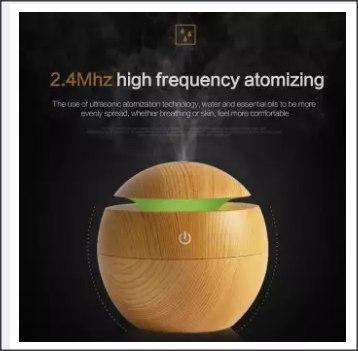 WOODEN HUMIDIFIER USB AROMA WITH LED NIGHT LIGHT -DT877