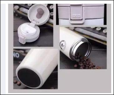 CAKA 380ml Stainless Steel Double Wall Vacuum Flask Coffee-DT885