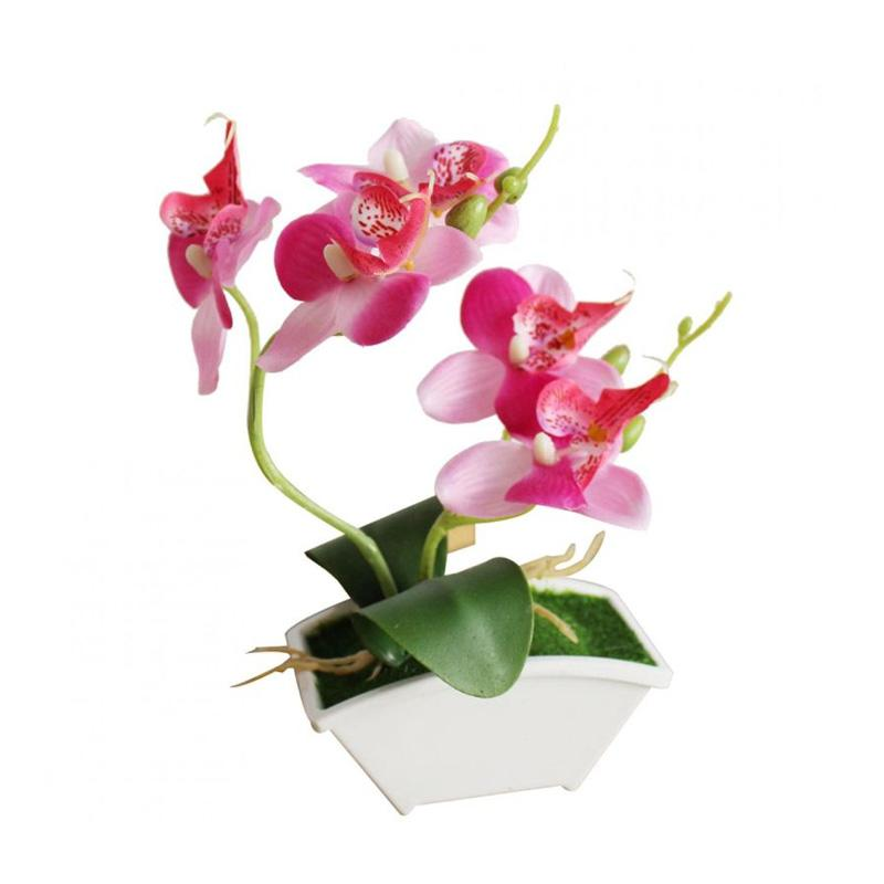 Butterfly Orchid with Flowerpot Potted Artificial Plant Garden-DT1091