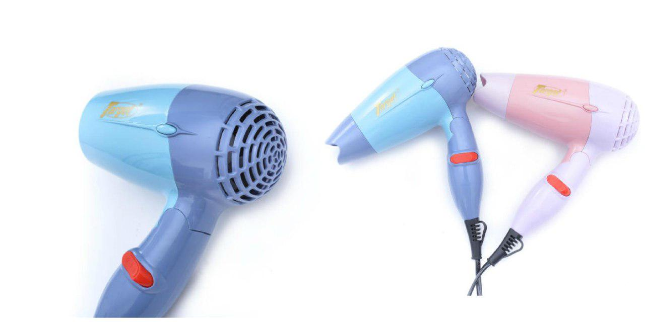 NOVA TC-1395 Fold-able Mini Travel Hair Dryer Compact Blower (Blue)-DT484