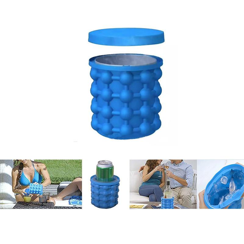 Magic Ice Cube Maker Blue Color Ice Genie Dt450