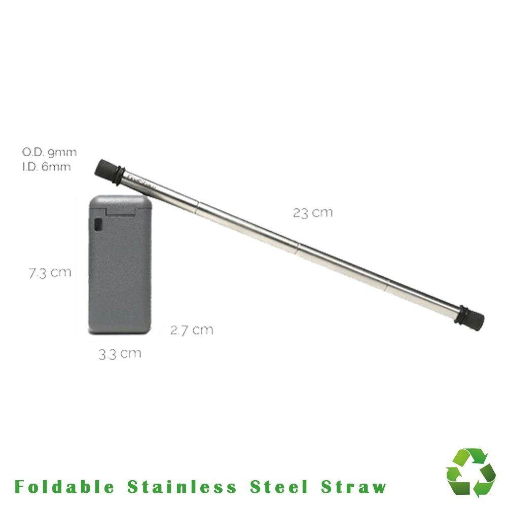 Foldable Stainless Steel Straw Dt494