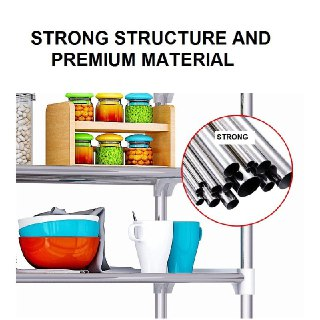 Large Capacity Stainless Steel 3 Tiers Organizer-DT500