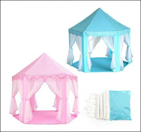 Classic Prince and Princess Play Tent Indoor and Outdoor Playhouse (135cm x 140cm) (2kg) - DT550